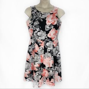 Alfani Floral Scuba Knit Fit & Flare Dress
